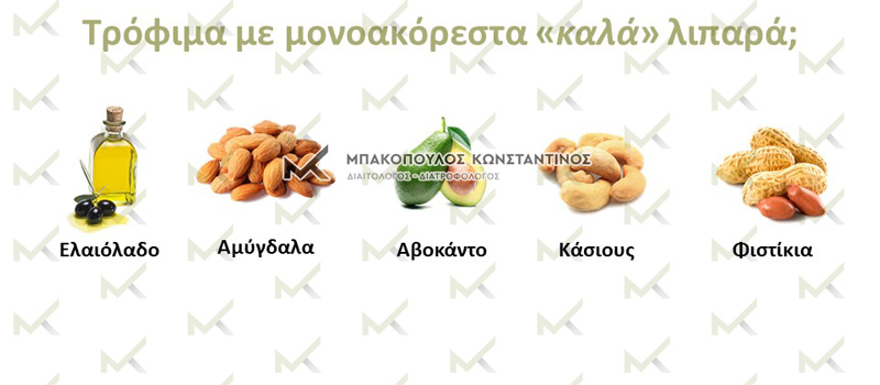 Τρόφιμα με μονοακόρεστα «καλά» λιπαρά; - Μπακόπουλος Διαιατολόγος