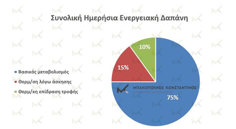 Βασικός μεταβολισμός και ενεργειακή δαπάνη - Μπακόπουλος Διαιτολόγος Αθήνα